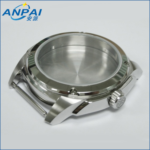 CNC Machined 316L Stainless Steel Watch Case with Mirror Polishing