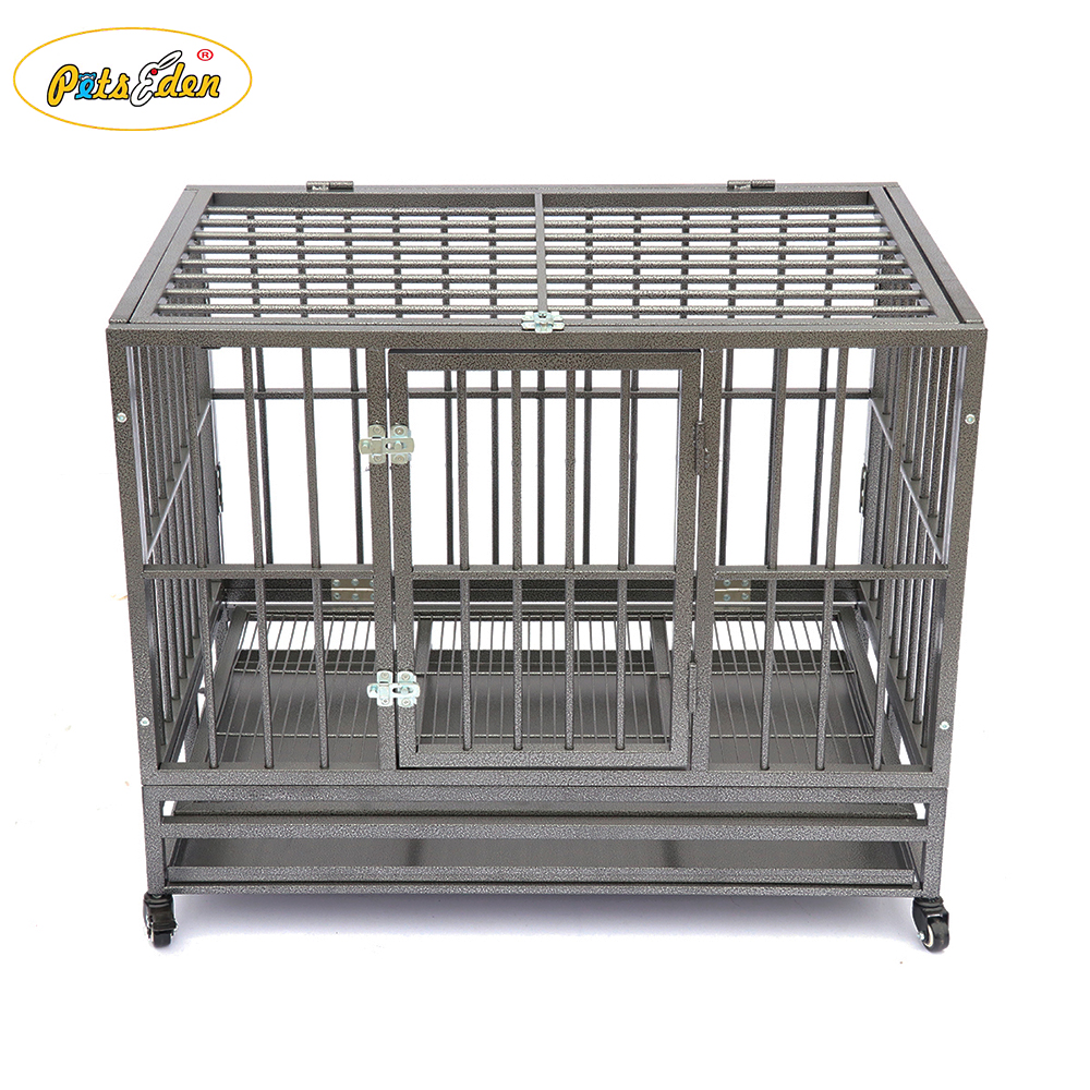 Heavy duty tube durable pets dogs cages crate customized color square