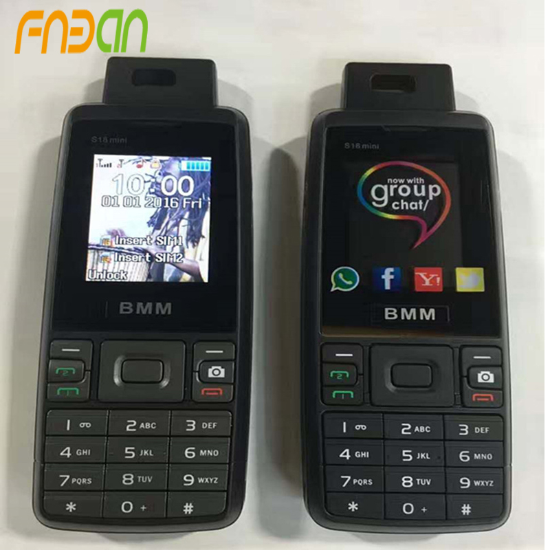 Hot Sale 1.77 Inch Screen Quad Band Rugged Mobile Phone Dual SIM Card GSM 2G Cell Phones S18 mini mobile phone