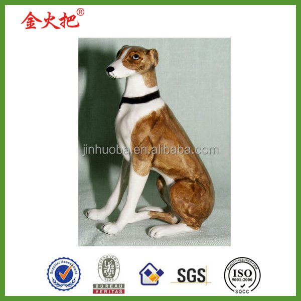 Promotion polyresin greyhound dog statue