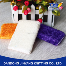 cleaning bamboo fiber antibacterial oil free super absorbent customized mesh scrub sponge pad