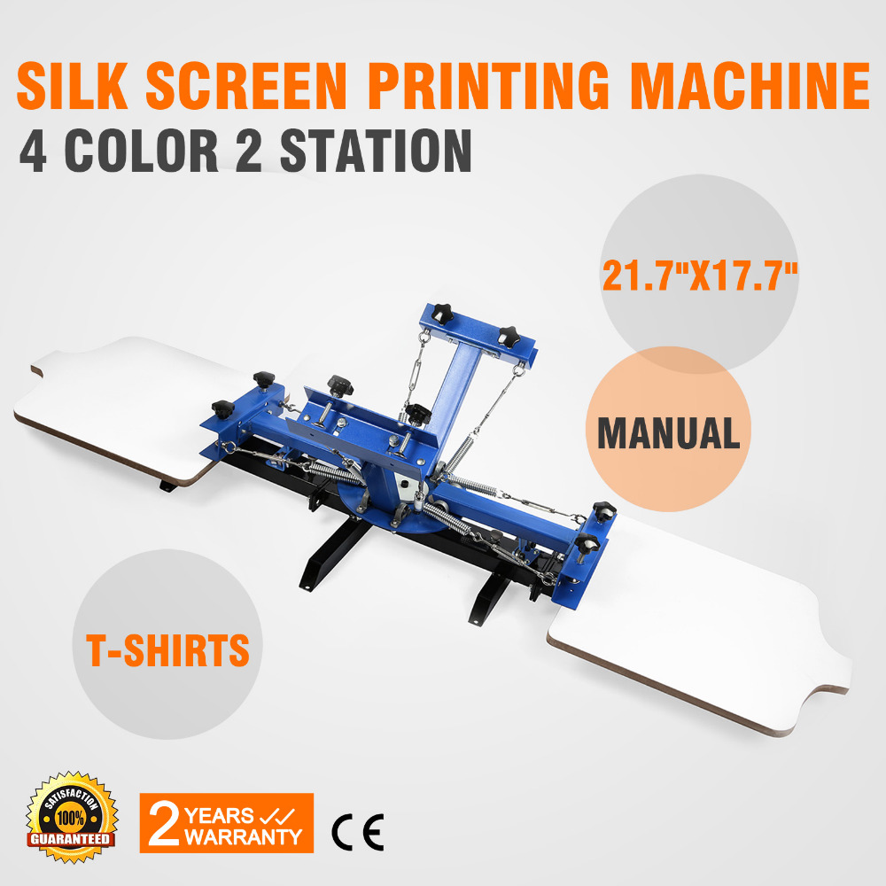 4 <strong>Color</strong> 2 Station Silk Screening Screenprint Press Screen Printing Machine