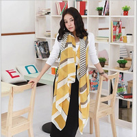 2015 New Chain Shawl Lady Long Silk feel Scarves Beach Sarong Voile Printed Pashmina Autumn Women Fashion Shawl mix item