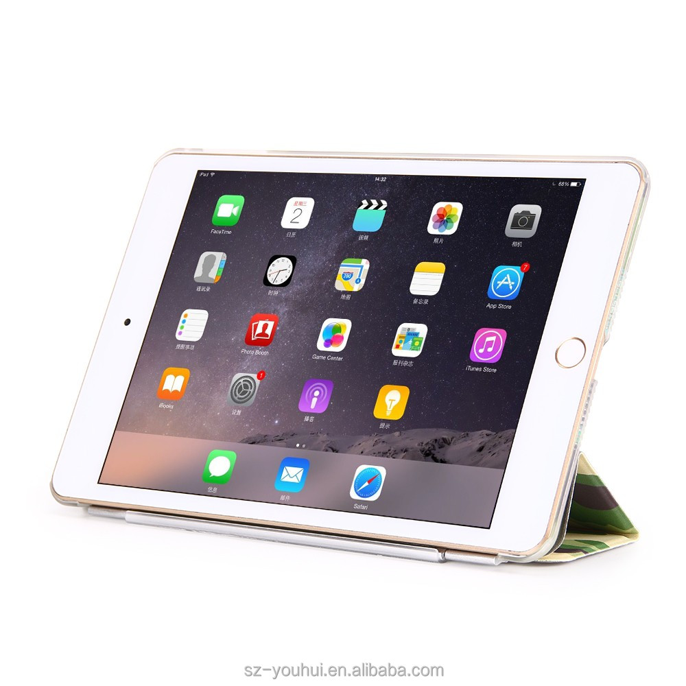 High Quality Wholesale 2 Folding Printed Cases Case For Ipad Air