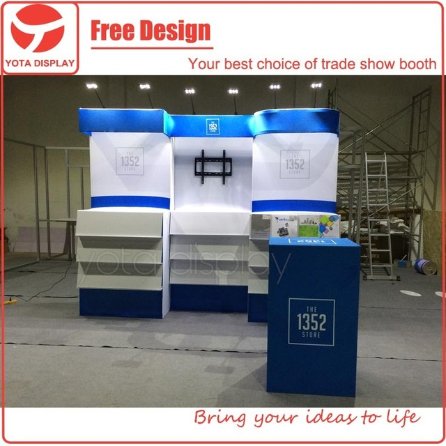 Yota offer 10x10 booth,custom trade show exhibition stands design