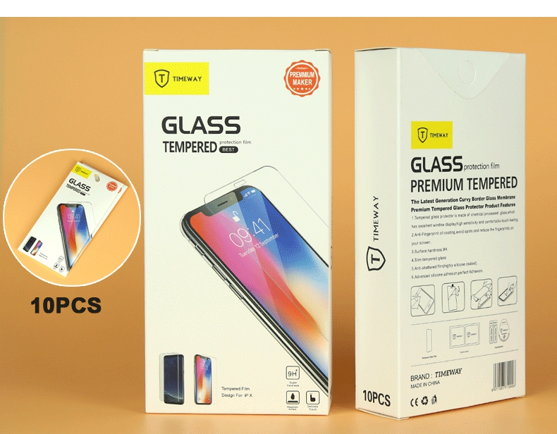 0.3mm 9H Premium 4D Curved Tempered Glass Screen Protector for apple iphone X HD Toughened Protective Film