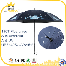 2017 New Auto open close 190T Japanese style UV Umbrella very small size