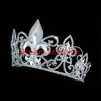 Men's Pageant Prom Accessories Tiara Full Circle Round Imperial Medieval Homecoming King Crown Kundan Jewellery