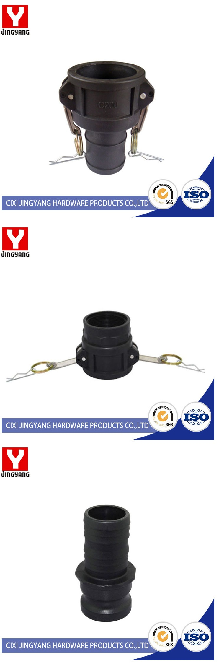 International Approvals pp camlock coupling