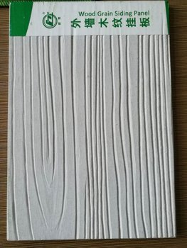 Light weight fire resistant wood grain fiber cement board