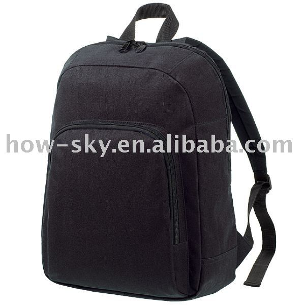 600D Black Campus School Sports Backpack