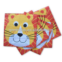Cute animal design fancy printed paper napkins in 2017