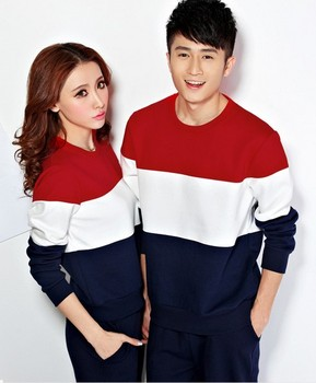 Block Color Couple T Shirt 2014 Long Sleeve T Shirt