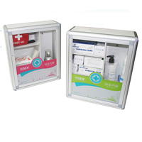 Empty Aluminum First Aid Kit Box Wall Mounted First Aid Box, First Aid Case For Workplace, Family And School
