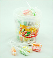 Halal sweet lollipop candy twist lollipops