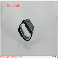 Cheap MTK6577 Dual Core Sim Card Android bluetooth smart watch phone with 512MB 4G Memory + 700mAh battery