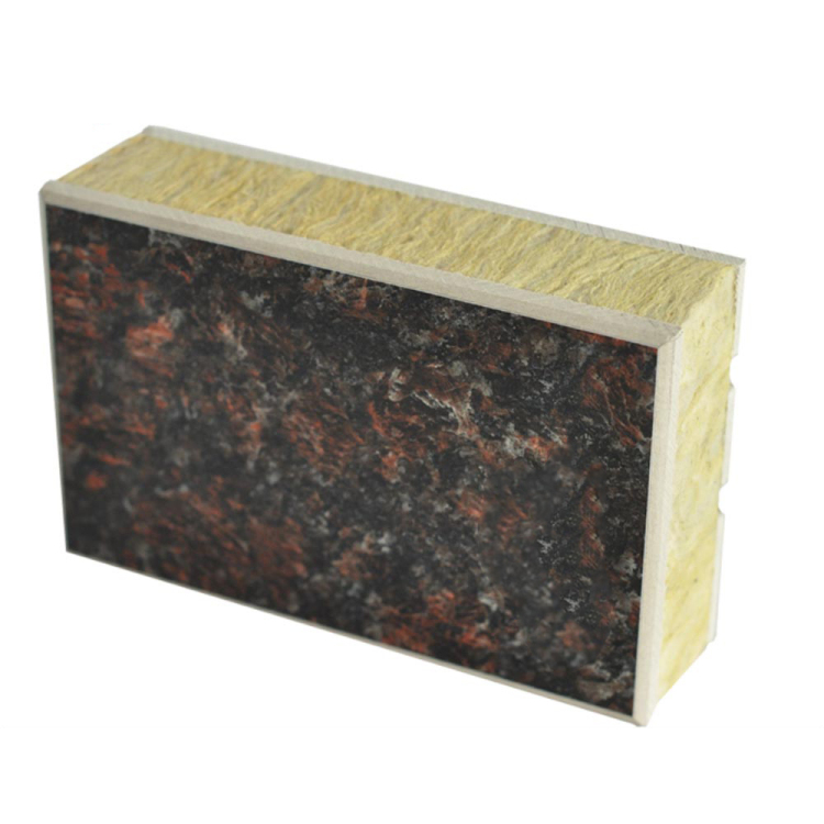 China Manufacturer exterior wall stone cladding designs rock wool board panel