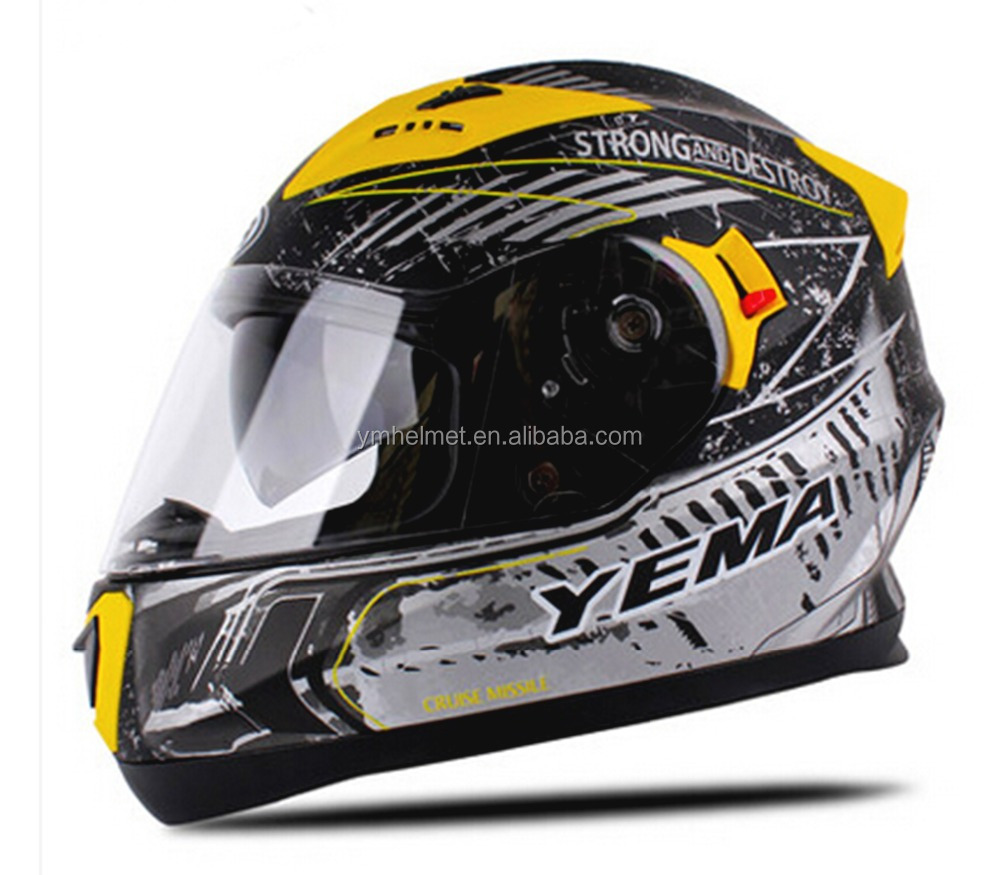 ECE approved new abs double visors full face motor helmets casco with high quality