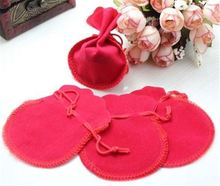 High quality elegant jewelry Velvet bags/Package cheap Flannel gift bag Jewelry handbag