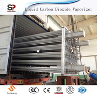 Export to Brazil Liquid Oxygen/Argon Gas Refill Air Heated Ambient Vaporizer Cylinder Filling Equipment