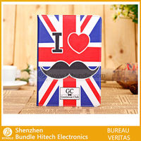 Cool face Fashion Cute mustache Beard Leather Case for iPad Mini