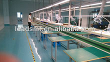 attached independent working tables type belt conveyor assemble line for electronics