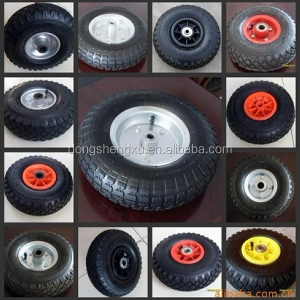Alibaba China 3.50-8 Pneumatic Rubber Wheels