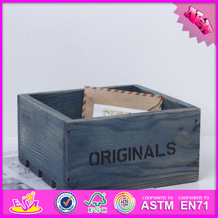 2016 hot sale kids wooden toy box with lock, top fashion children wooden toy box with lock W08C163