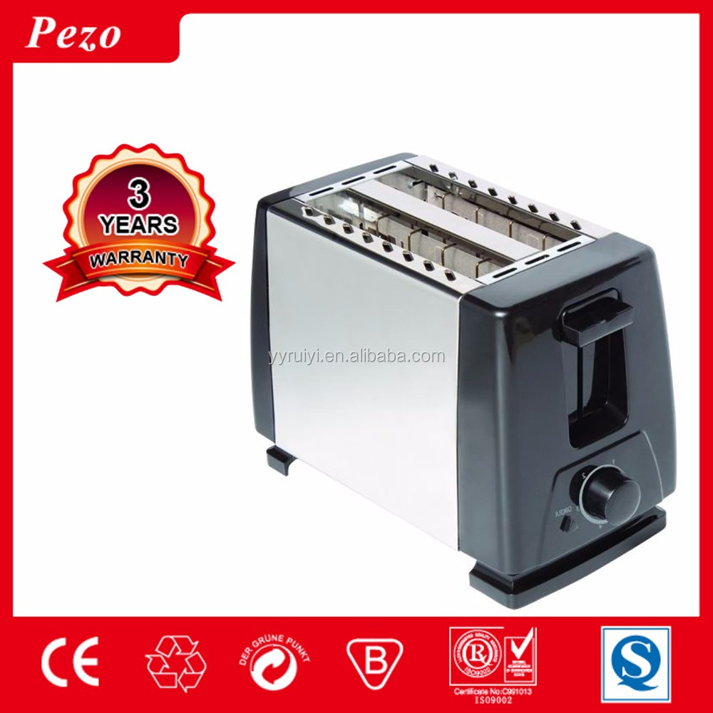 2 slice home toaster with electronic browning control
