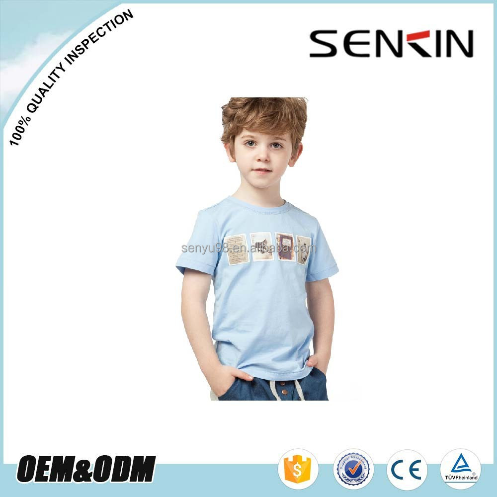 Garment Factories 100% Cotton Low MOQ custom fashion kids t shirt with your own logo
