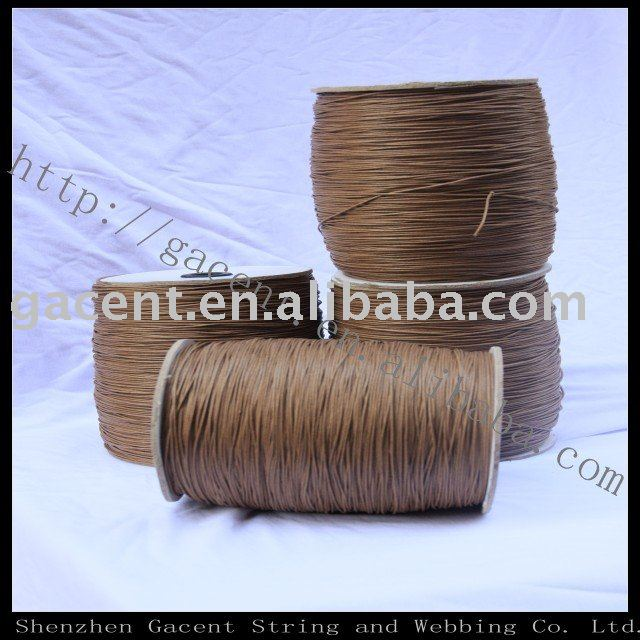 Color cotton waxed nylon cord