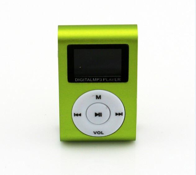 mini clip lcd screen mp3 multimedia player