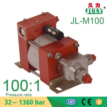Small Portable Model :M100 700 bar High pressure air driven hydraulic pump