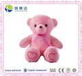 Soft Plush LED Light Induction Loving Heart Bear Toy