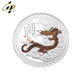 Custom The Year Of Dragon metal silver souvenir coin with box
