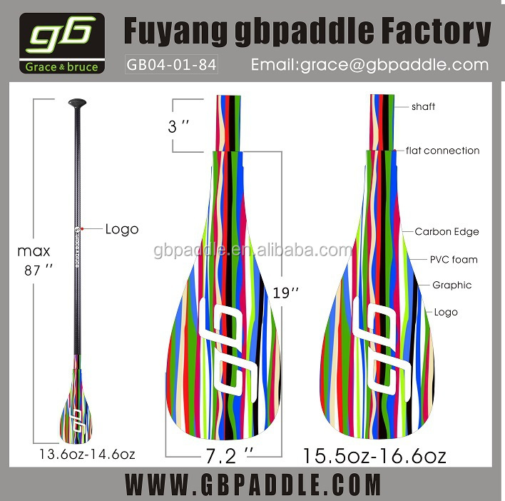 wholesale colorful sup paddle novelty inflatable surfboards carbon paddle