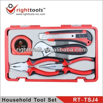 RIGHT TOOLS NEW SET RT-TSJ4 5 PCS HOUSEHOLD TOOL SET