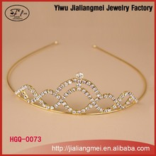 cheap fashion crystal head crown rhinestone bridal tiara