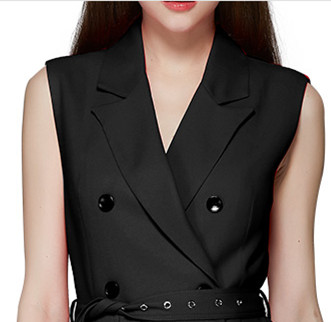 Autumn double-breasted business suit wind coat long dress China garment factory