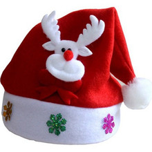 Christmas Decorations Children's Holiday Gifts Hat, Christmas Cap, Christmas Hat Foldable Bag