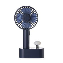 Creative design table <strong>fan</strong> with 18650 recgargeable KC/PSE battery portable <strong>fan</strong> with mushroom nightlight handy mini <strong>fan</strong>