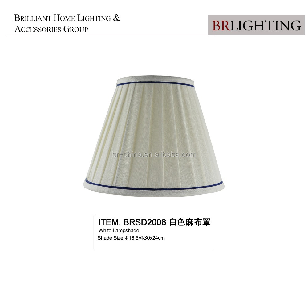 white pleat fabric lamp shade for table lamp BRSD2008