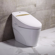 Electric smart intelligent one piece toilet with electronics bidet