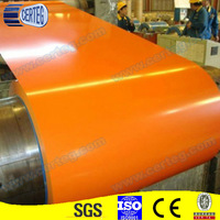 Prepainted Yellow colorful Galvanized steel /coil PPGI Z275