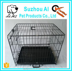 Secure and Compact Single Door Metal Dog Crate Large Steel Dog Cage