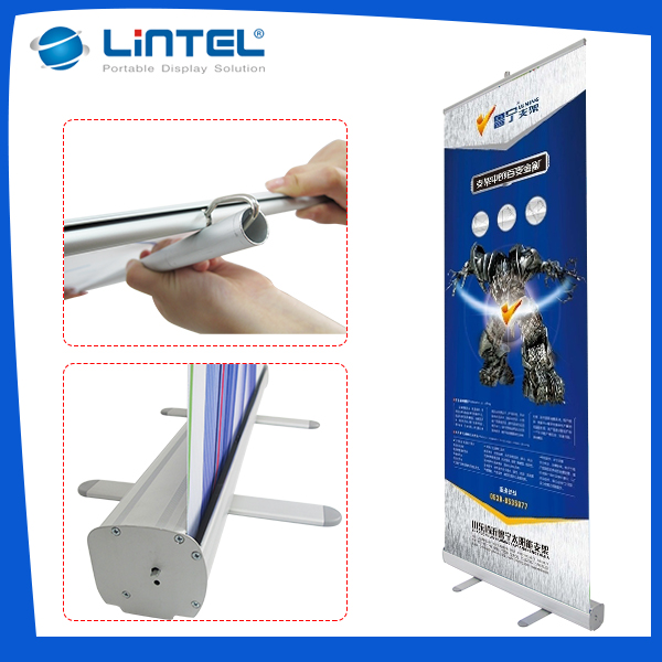 Hot selling Professional cheap cassette aluminum roll up banner stand printing Air condition and refrigeration