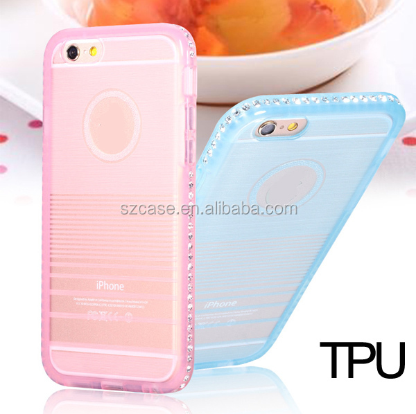 Fashion phone 6 6s diamond case for Iphone 6 plus tpu case for iphone6