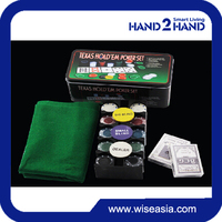 High quality with 200pcs custom PP poker table chips game set gambling games