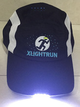 logo custom running hat flashing led light cap