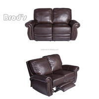 Hot sale modern design living room furniture hotel used upholstery fabric/leather motion reclining sofa